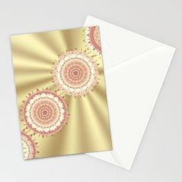Delicate Mandalas on Gold Stationery Cards