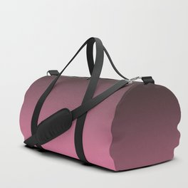 Black and pink. Gradient.  Ombre. Duffle Bag