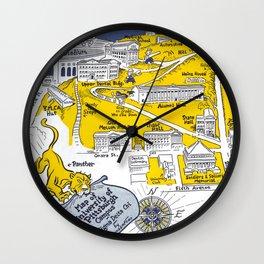 PITTSBURGH University map PENNSYLVANIA  dorm decor Wall Clock