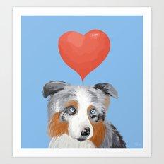 An Aussie in Love Art Print