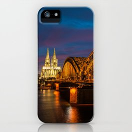 Hohenzollern Bridge in Cologne Germany iPhone Case