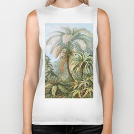 Vintage Fern and Palm Tree Art - Haeckel, 1904 Biker Tank