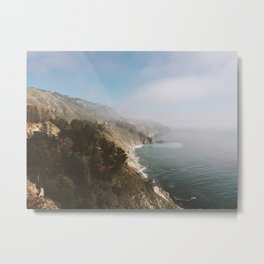 Foggy Coast Metal Print