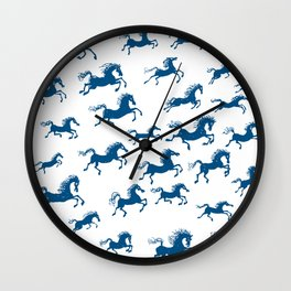 horses in a dream Wall Clock