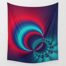 time for fractals -6- curtain Wall Tapestry