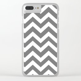 Sonic silver - grey color - Zigzag Chevron Pattern Clear iPhone Case