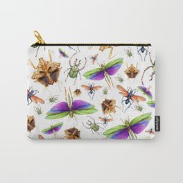 Vibrant Insect Swarm Carry-All Pouch