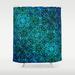 AZURE - watery crystal pattern Shower Curtain