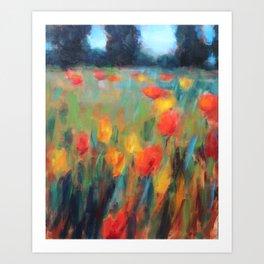 Hillside Brights Art Print