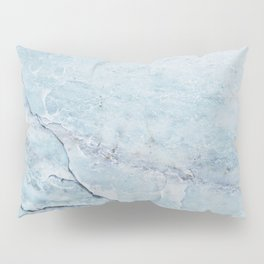 Light Blue Marble Pillow Sham