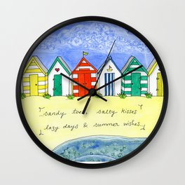 Summer Wishes Wall Clock