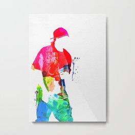 50 Cent Watercolor Metal Print