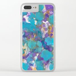 Blue Blossom Clear iPhone Case