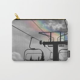 4 Seat Chair Lift Rainbow Sky B&W Carry-All Pouch