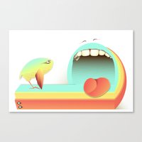 fear Canvas Prints featuring Fear by Laima St