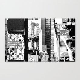 City Architecture Collage Canvas Print