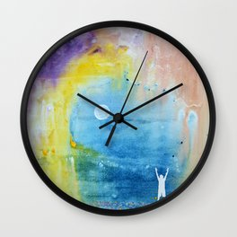 Playing with Wildflowers Wall Clock