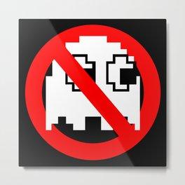 Pacman Ghostbusters Metal Print
