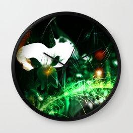 Pea Flower-Phantom Of The Garden-Abstract Wall Clock