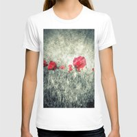 letters T-shirts featuring Poppies & Letters by ARTbyJWP