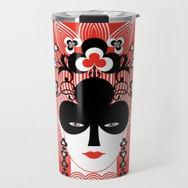 The Queen of clubs Travel Mug