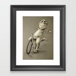 No Hands! Framed Art Print
