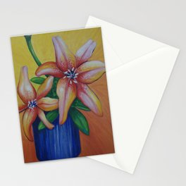 Lillies in the sun Stationery Cards