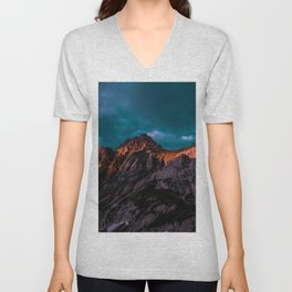 The Volcano Mountain (Color) Unisex V-Neck
