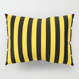 Yellow and Black Large Tent stripes Pillow Sham