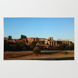 Roman ruin in Rome photography Rug