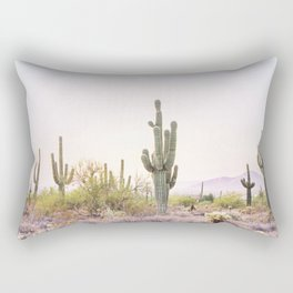 Cactus In The Desert Rectangular Pillow