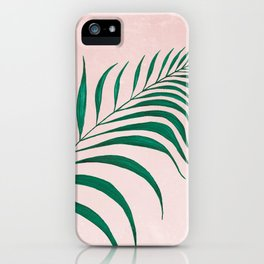 Tropical Palm Leaf #3 | Watercolor Painting iPhone Case