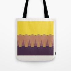 Geometric Sunset Print Tote Bag