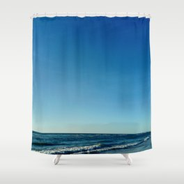 Oceanic landscape: Lacanau  2 Shower Curtain
