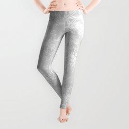 Silver Snowflakes Leggings