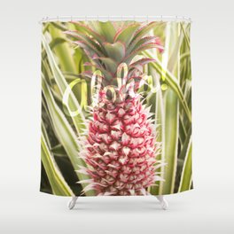 Pink Pineapple Aloha! Shower Curtain