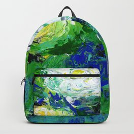 Abstract Floral - Botanical Backpack