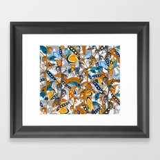 Multicolor Horse Feathers Framed Art Print