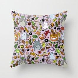 ChibiTotoros Throw Pillow