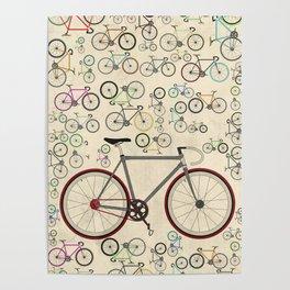 Love Fixie Road Bike Poster