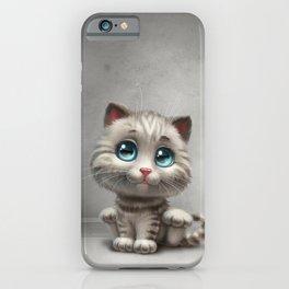 gray kitten iPhone Case