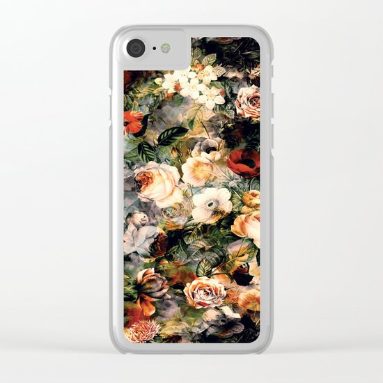 Floral Pattern RPE120 Clear iPhone Case