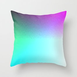 Six Color Ombre Cyan, Purple, Green, Pink, Purple, Blue, Spectrum Flame Throw Pillow
