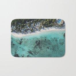 Caribbean blue beach Bath Mat