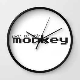 You're Our Little Monkey Wall Clock