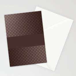 Brown mother of pearl Stationery Cards