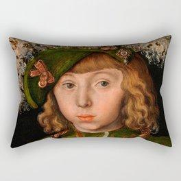 """Lucas Cranach the Elder """"Portrait of Johann Friedrich the Magnanimous"""" Rectangular Pillow"""