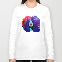 afro Long Sleeve T-shirts featuring afro color by WITH MY HANDS