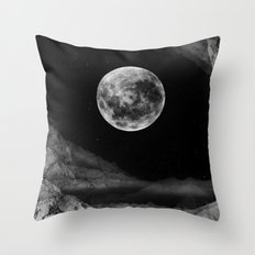 Between two moons Throw Pillow