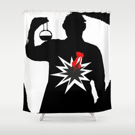 KABOOM Shower Curtain